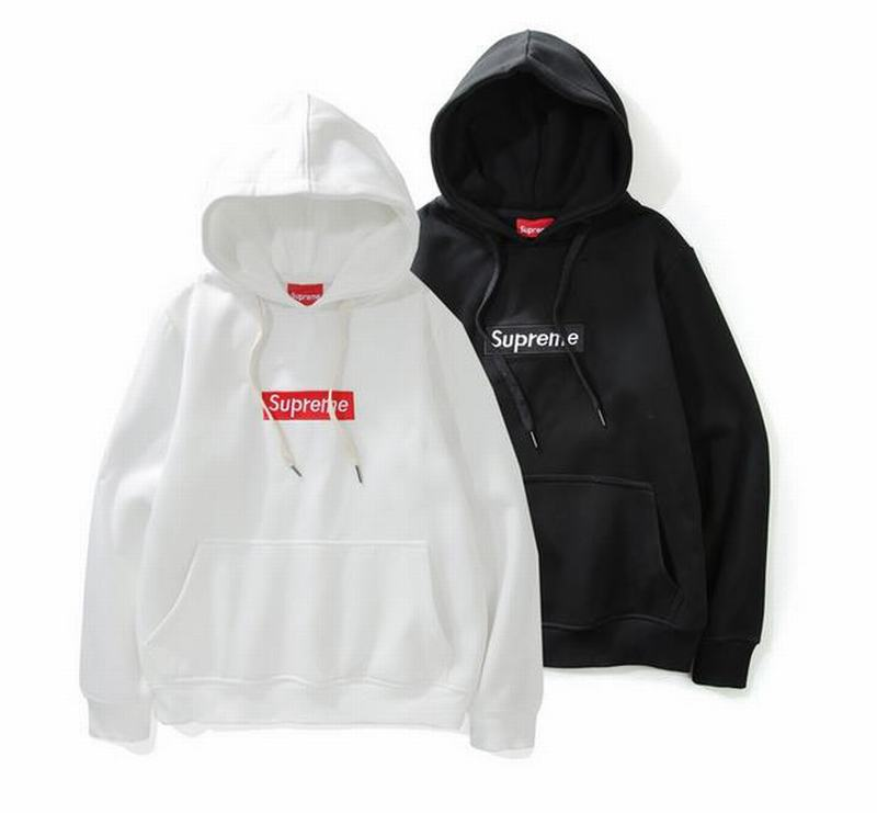 Supreme 2 colors white black hoodie classic box logo