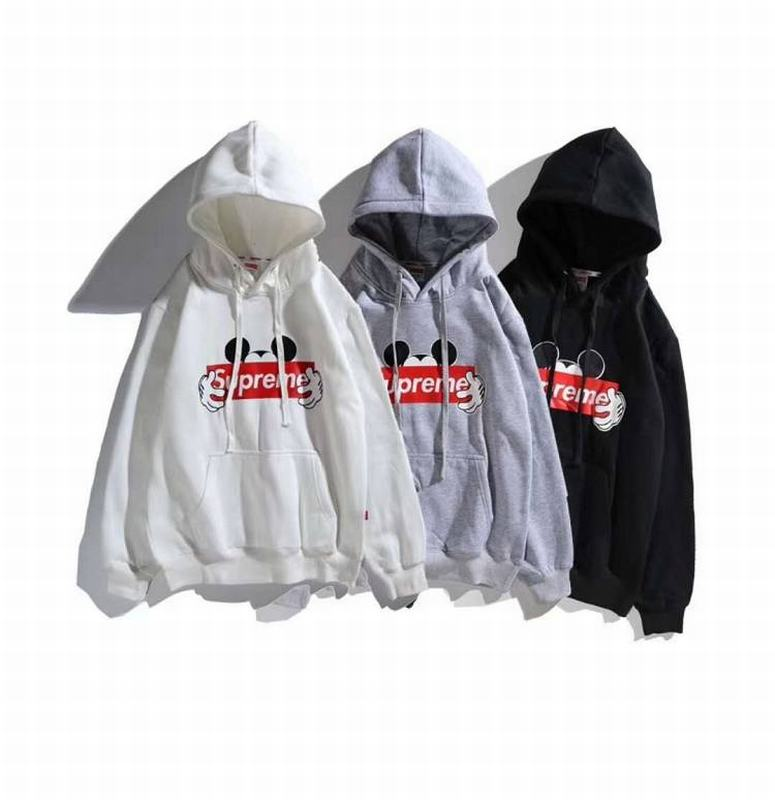 supreme 3 colors white black grey hoodie box logo