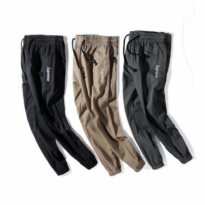 Supreme X TNF 3 colors black beige dark greey long pant