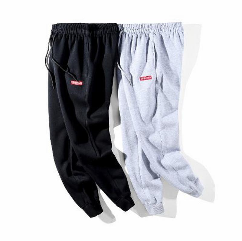 Supreme classic box log 2 colors black grey long pant