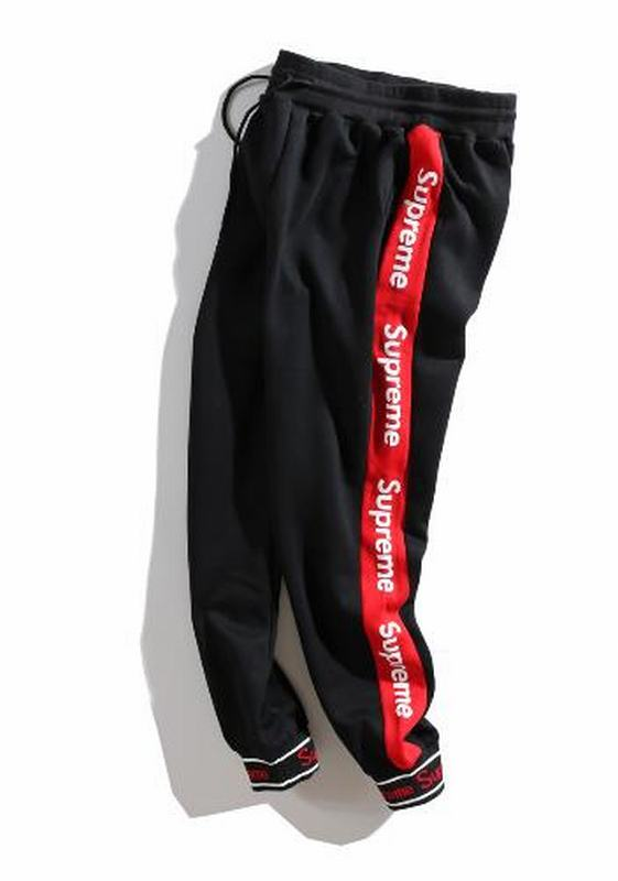 Supreme long box log 2 colors black white long pant