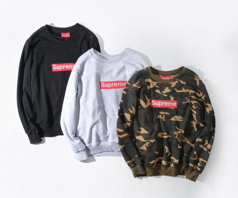 supreme 3 colors camo black white long sleeve embroidery box logo