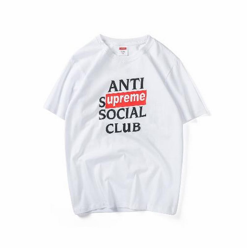 ASSC X Supreme 3 colors white black pink T shirt