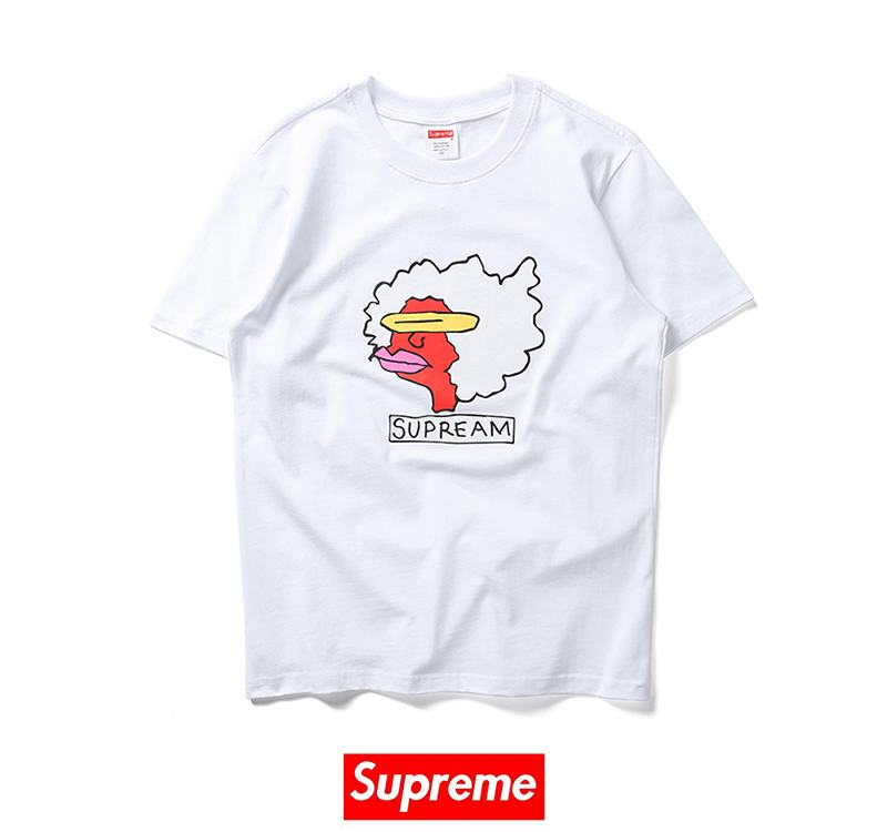 Supreme x Gonz Ramm 2 colors white black t shirt