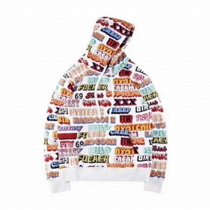Supreme 17FW Hysteric Glamour Text letter Hoodie