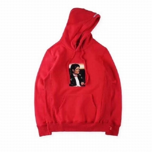 supreme Michael Jackson 4 colors red blue white black hoodie