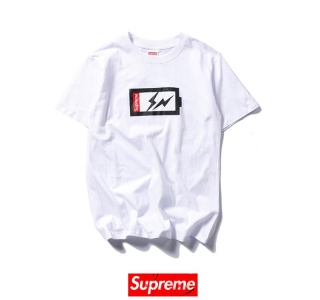 Supreme x FRAGMENT DESIGN charging 2 colors white black t shirt