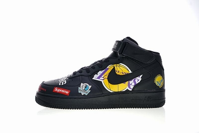Supreme x NBA x Nike Air Force 1 AF1 black high  AQ8017-001