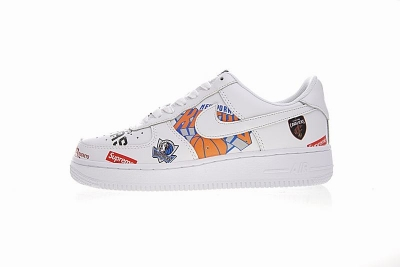 Supreme x NBA x Nike Air Force 1 AF1 white low AQ8017-300