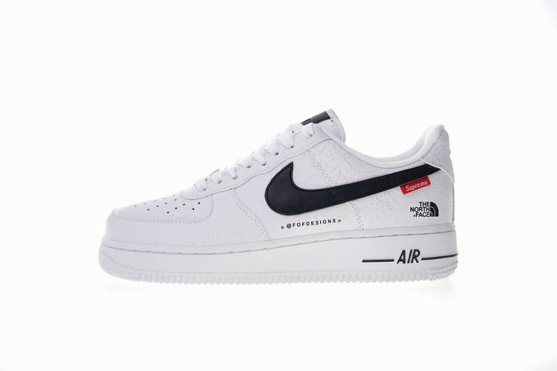 Supreme x The North Face x Nike Air Force one white AR3066-100