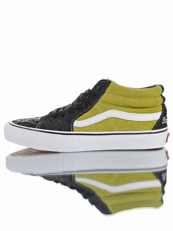 Supreme x Vans Sk8-Mid Pro Classic Mid Sport Black Moss Green VN0A347UPUH