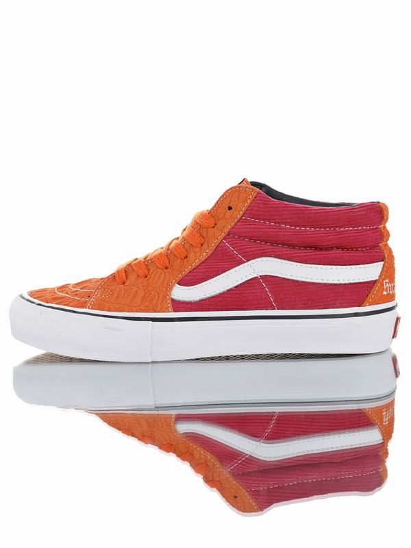 Supreme x Vans Sk8-Mid Pro Classic Mid Sport Orange Wine Red VN0A347UPUJ